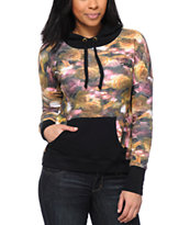 Crooks and Castles Women's Allover Floral Printed Pullover Hoodie