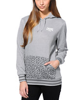 Crooks and Castles Women's Animal Pocket Grey Pullover Hoodie