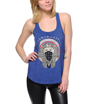 Crooks and Castles Women's Pharaoh Navy Racerback Tank Top
