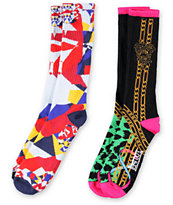 Crooks and Castles X Big Boi Regalia 2 Pack Black & White Socks