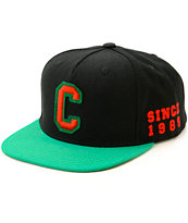 Cross Colours Old School Hi Crown Snapback Hat
