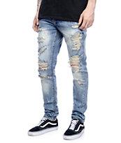 Crysp Denim Bobby Ink Splatter Ripped Jeans