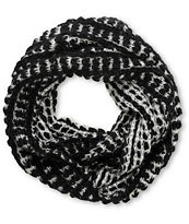 D&Y Black & Grey Two Tone Chunky Knit Infinity Scarf