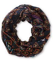 D&Y Black Southwest Tribal Print Infinity Scarf