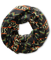D&Y Black Tribal Stripe Infinity Scarf