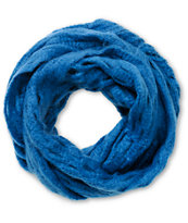 D&Y Blue Oval Open Knit Infinity Scarf