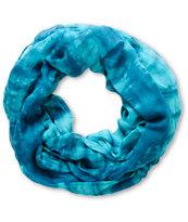 D&Y Blue Tie Dye Infinity Scarf
