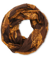 D&Y Brown Tiger Print Infinity Scarf