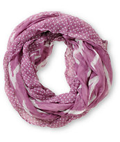 D&Y Chevron Stripe Purple Infinity Scarf