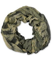 D&Y Face Of The Tiger Green Infinity Scarf