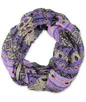 D&Y Geometric Pink & Purple Tribal Print Infinity Scarf