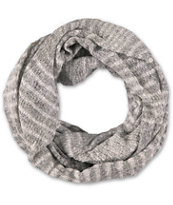 D&Y Ivory Heather Knit Infinity Scarf