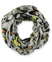D&Y Leopard Multi Pop Grey Infinity Scarf