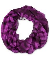 D&Y Magenta Tie Dye Infinity Scarf