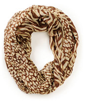 D&Y Mixed Brown Animal Print Infinity Scarf