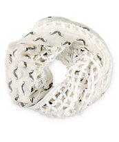 D&Y Mustache Knit Infinity Scarf