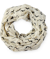 D&Y Mustache Print Infinity Scarf