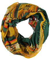 D&Y Orange Tribal Print Infinity Scarf
