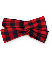 D&Y Plaid Hersey Knot Headband