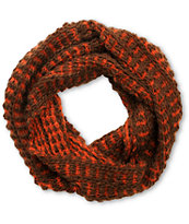 D&Y Red Two Tone Chunky Knit Infinity Scarf