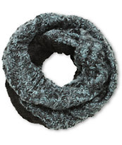 D&Y Spacedye Grey & Black Knit Infinity Scarf