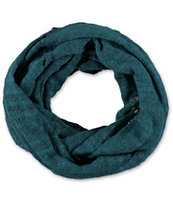 D&Y Teal Heather Knit Infinity Scarf