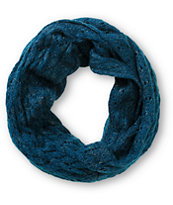 D&Y Teal Speckle Knit Infinity Scarf