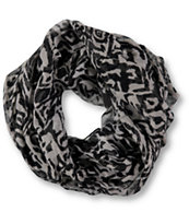 D&Y Two Color Tribal Print Infinity Scarf