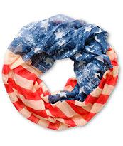 D&Y Vintage American Flag Infinity Scarf