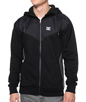 DC Battery Black Water Resistant Tech Fleece Jacket