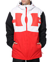 DC Billboard Red, White & Black 2014 Snowboard Jacket