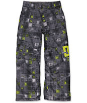 DC Boys Banshee Black Monogram 10K Snowboard Pants 2014