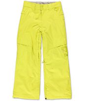 DC Boys Banshee Yellow 10K 2014 Snowboard Pant