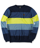 DC Boys Bob Blue Grey Stripe Sweater