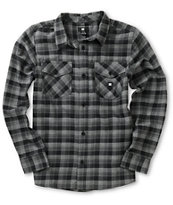 DC Boys Chozen Black Plaid Flannel Shirt