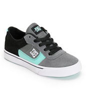 DC Boys Chris Cole Pro Battleship & Turquoise Skate Shoe