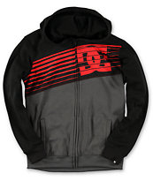 DC Boys Go Big Black & Red Tech Fleece Jacket