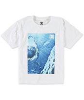 DC Boys Grotto Of Sharks White Tee Shirt