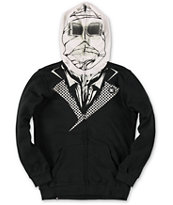 DC Boys Invisible Black Full Zip Face Mask Hoodie