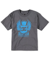 DC Boys Jett Charcoal T-Shirt