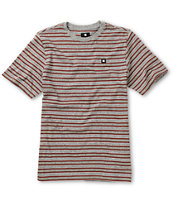 DC Boys Killjoy Grey Stripe Tee Shirt