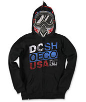 DC Boys Moto Black Full Zip Face Mask Hoodie