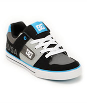 DC Boys Pure Grey, Black, & Blue Skate Shoe