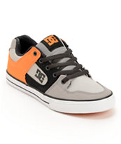 DC Boys Pure Grey & Orange Canvas Skate Shoe