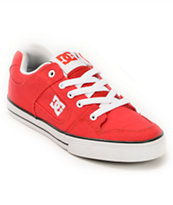 DC Boys Pure Red Canvas Skate Shoe