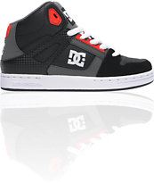DC Boys Rebound Hi Black, Battleship & Red Skate Shoe