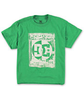 DC Boys Segment Green Tee Shirt
