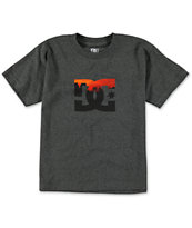 DC Boys Set Heather Charcoal Tee Shirt