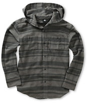 DC Boys Striper Hooded Flannel Shirt