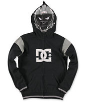 DC Boys Touchdown Black Full Zip Face Mask Hoodie